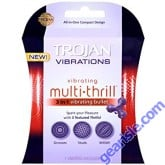 Trojan Multi Thrill 3 in 1 Vibrating Bullet Enhancer, Experience Pleasure