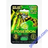 New Improved Poseidon Platinum Green 10000 Sexual Supplement Pill