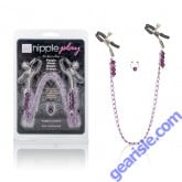 Purple Chain Nipple Clamps Cal Exotic