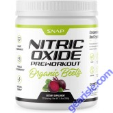 Snap Organic Nitric Oxide Beet Root Pre Workout Booster Powder