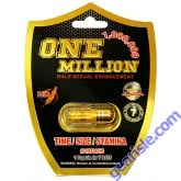 One Million 1000000 Male Sexual Enhancement Gold Pill