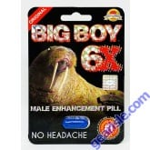 Big Boy 6X Max Power 7 Days Enhancement for Men 1 Pill