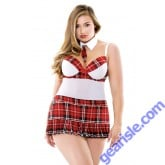 Teacher's Pet Schoolgirl Set Tie Choker Apron Dress Panty Curve P178