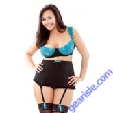 Underwire Bra Detachable Gartered High Waist Panty Curve P180
