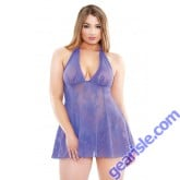 Stretch Lace Chemise Matching G-string Curve P185