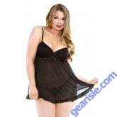Shirred Cup Babydoll Matching G-string Curve P442