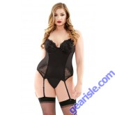 Metallic Embroidered Bustier Molded Cups G-string Curve P451