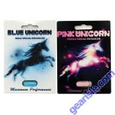 Party Package Blue Pink Unicorns Male Female Sexual Enhancement