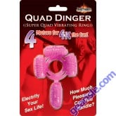 Quad Dinger Super Quad Vibrating Ring 4 Motor for 4X The Fun Toy