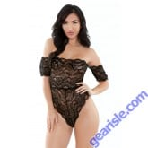 Brittany Off Shoulder Lace Playsuit Romp R532