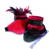 Sexy Slave Kit Includes Soft Red Blindfold Wrist Ankle Cuffs