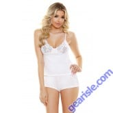 Ivy Cami Cutout Lace Shorts Set Sleep S165
