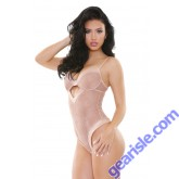 Tori Stretch Lace Keyhole Front Teddy Nude B469 Tease