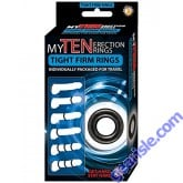 Erection Rings Lube Super Stretchy Pack of 10 Clear My Ten