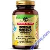 Solgar Korean Ginseng Root Extract 60 Vegan Pills