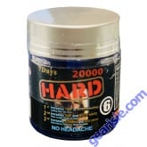 Wicked Black Hard 20000mg Triple Maximum Sexual 6 Ct Bottle Pill