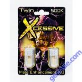 Xcessive Twin 500K Platinum Male Enhancement Double Pill