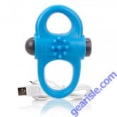 ScreamingO Charged Yoga Double Vibrating Cock Ring Blue