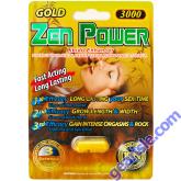 Zen Power Gold 3000 Male Sexual Libido Enhancer Pill