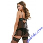 Halle Lace Babydoll Garters Matching Panty Tease B226 Fantasy