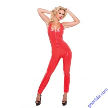 Seductively Red Catsuit Second Skin 10-4007