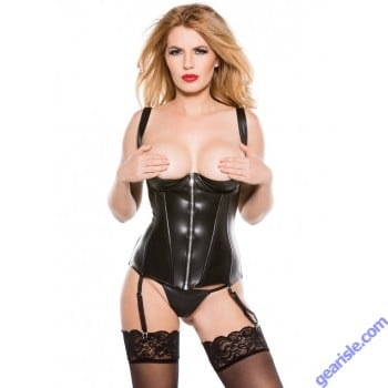 Faux Leather 1/4 Cup Corset 11-2005