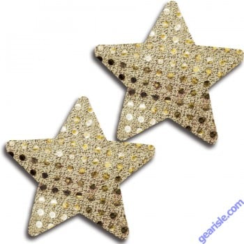 Glitter 31528 Gold Glitter Cross Pasties Lingerie