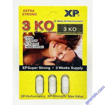 3 KO Male Sexual Libido Enhancer 1000 mg Natural Herbal Extract x 3pills
