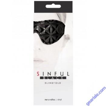 Sinful Black Blindfold by NS Novelties