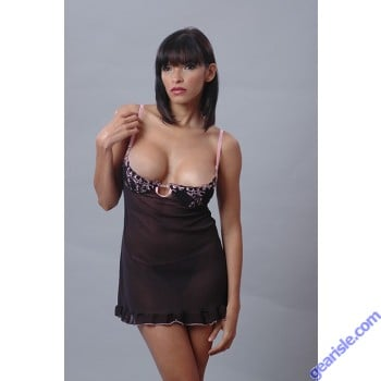 Lingerie 5211 Babydoll With Embroidered Lace