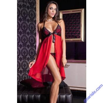 Misses Mesh Lace Flyaway Night Gown 5840 Lingerie