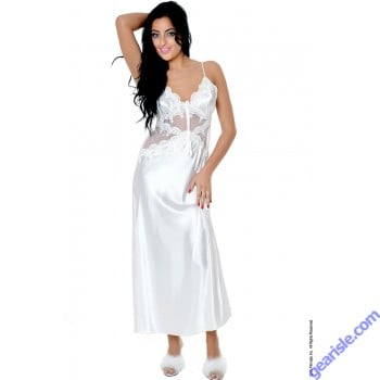 Venice Lace & Charmeuse Bridal Gown w/Lace-up Back Vx Intimate Lingerie 6074