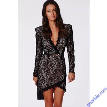 V neck Backless Bodycon Midi Dress
