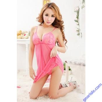 Women Sexy Babydoll Nighty 6676 Lingerie 3 Piece