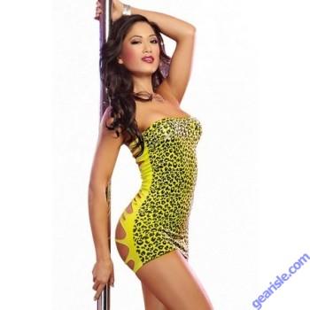 Dreamgirl 9288 Pretty Wild Dress Set Lime