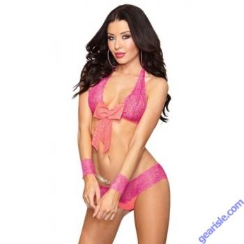 Dreamgirl 9813 Naughty Love Bra Set Pink