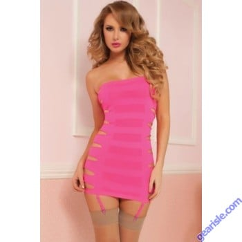 Flashy Cage Seamless Dress 9861P Seven' til Midnight