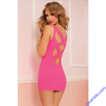 Sexy Back Seamless Dress 9865P Seven' til Midnight