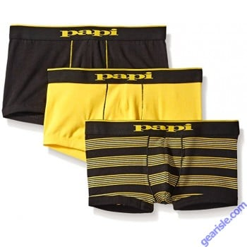 Cotton Stretch Brazilian Trunks 3 Pack Papi 980503