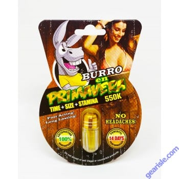 Burro 550K Gold Male Enhancement Capsules
