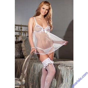Sexy Alluring Bride 4 Piece Set Adult Women Lingerie by Be Wicked 1376