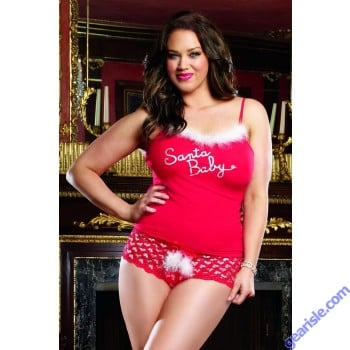 Dreamgirl 9632 Santa Tank and Boyshort