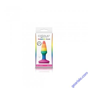 Colours Pride Edition Pleasure Plug Small Rainbow 2