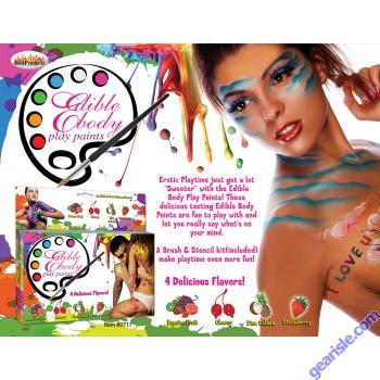 Edible Body Paints Four Flavors