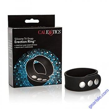 Silicone Tri-Snap Erection Ring Black Cal Exotics