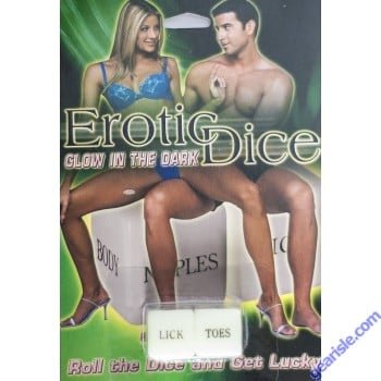 Erotic Dice Glow In The Dark Adult Forplay
