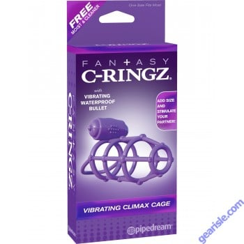 Fantasy C-Ringz Vibrating Climax Cage Waterproof Bullet
