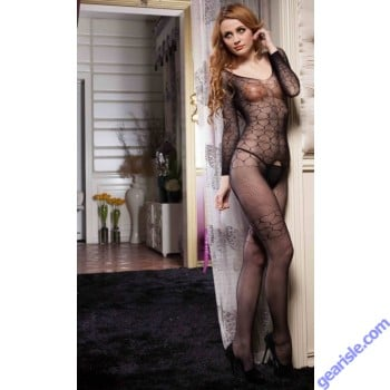 Lady's Keller Legs Fishnet Body Stocking 818JT060 Yelete Group Lingerie
