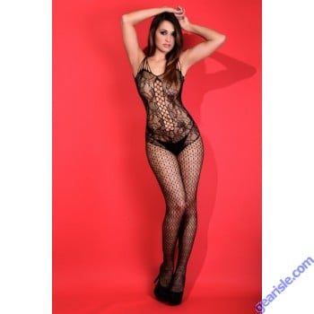 Lady's Keller Legs Fishnet Body Stocking 818JT093 Yelete Group Lingerie