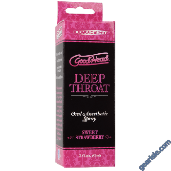 GoodHead Sweet Strawberry Deep Throat Oral Anesthetic Spray